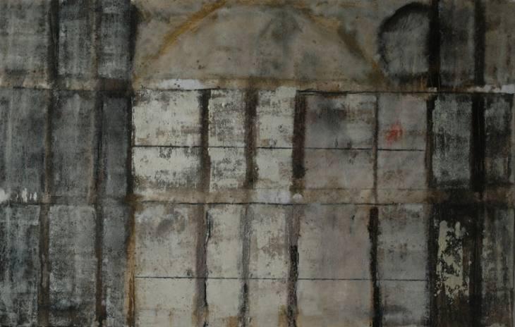 Iz cikla OGRAJE - VRATA, 90x140cm, olje-platno, 2007