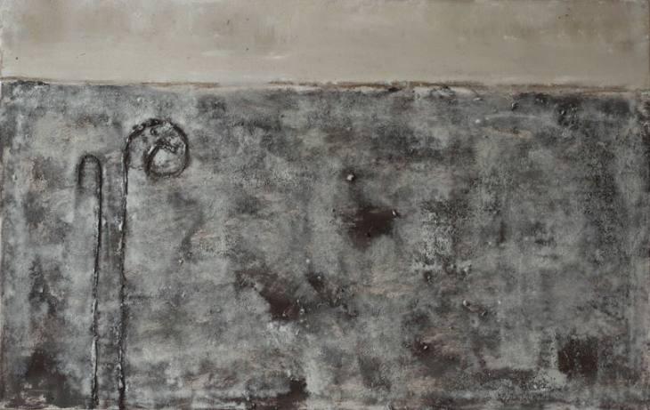 Iz cikla OGRAJE – VRATA, 90x140cm, olje-platno, 2007