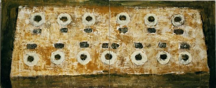 Iz cikla ZADNJA VEČERJA, 100x240cm, olje-platno, 2004