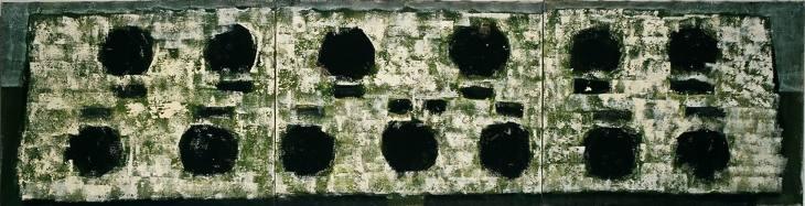 Iz cikla ZADNJA VEČERJA, 70x270cm, akril-platno, 2004
