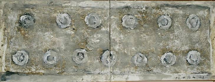 Iz cikla ZADNJA VEČERJA, 50x140cm, olje-platno, 2004