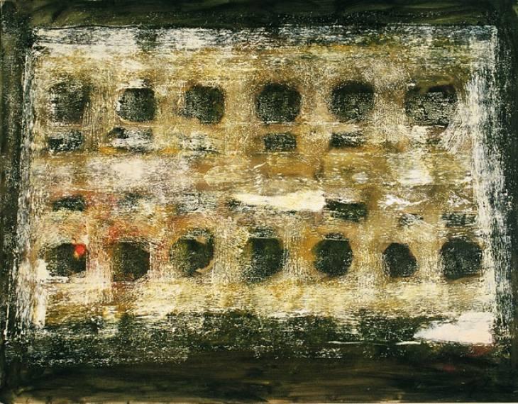 Iz cikla ZADNJA VEČERJA, 70x100cm, olje-platno, 2005