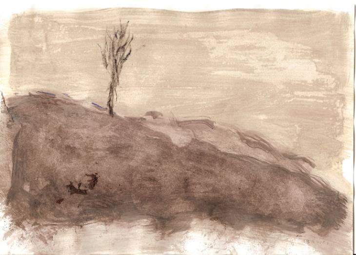 DREVO-II,20,5X29,5cm,akril-papir,2009